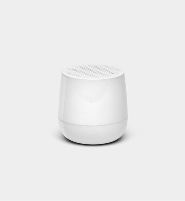 Lexon design Mino + Wireless rechargeable Bluetooth portable speaker Glossy White
