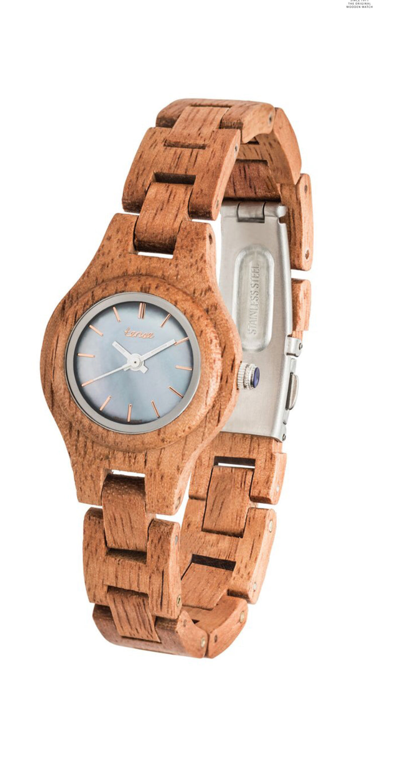 Tense Ladies Wood Watches Small Pacific Gabriola  Butternut Locally Hand Made