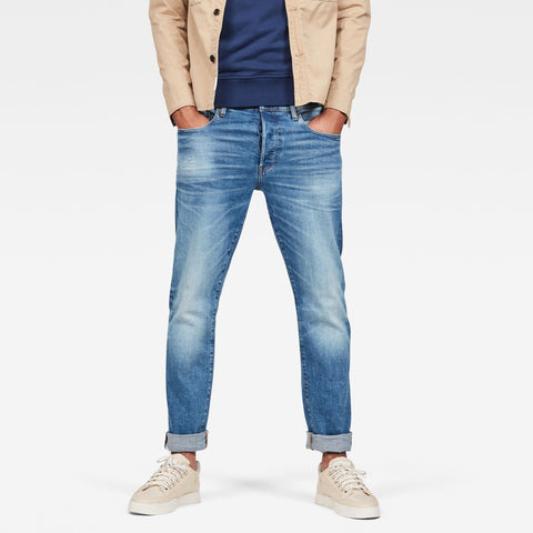 G-Star Men's Denim 3301 Slim faded blue Jeans
