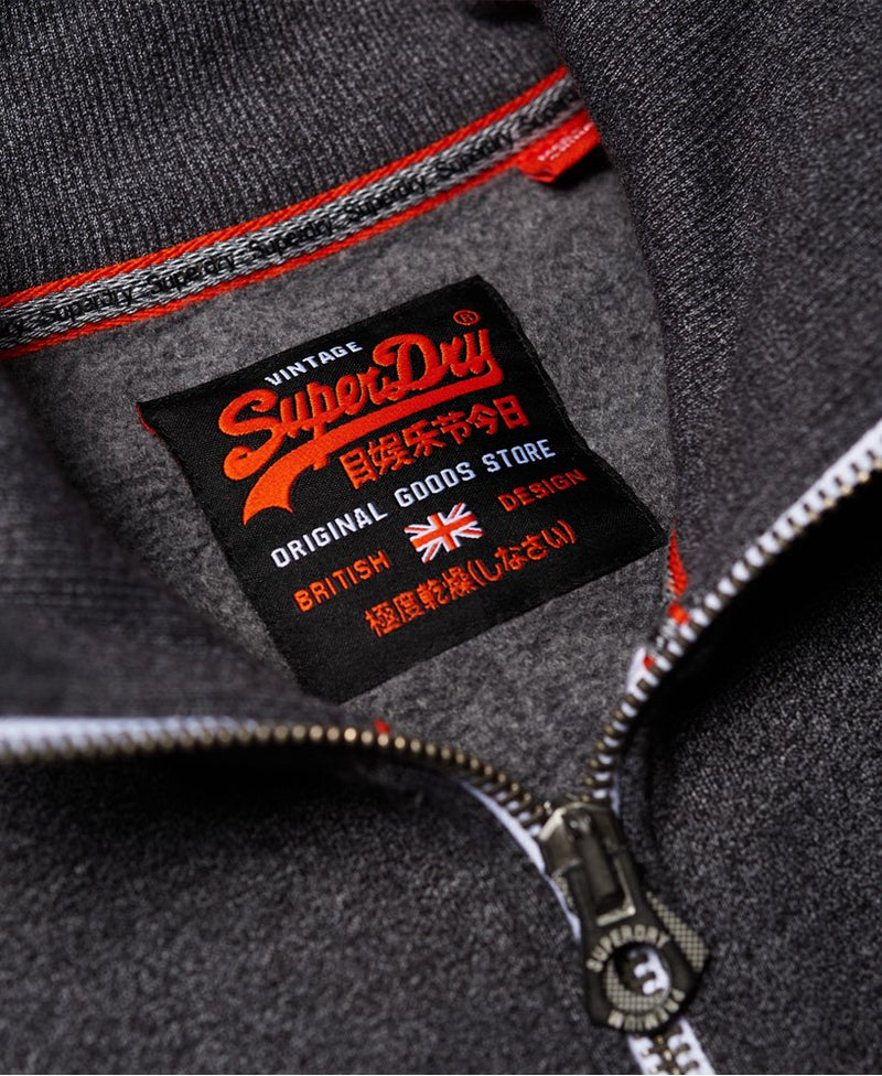 Superdry Men's black grit track top vintage