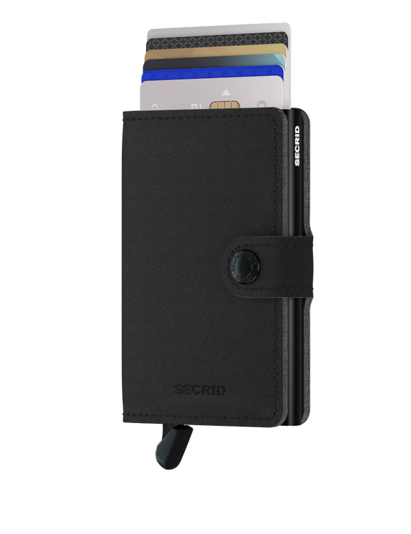 Miniwallet Yard Black-RFID Secure Authorized Dealer Mini Wallet-Vegan