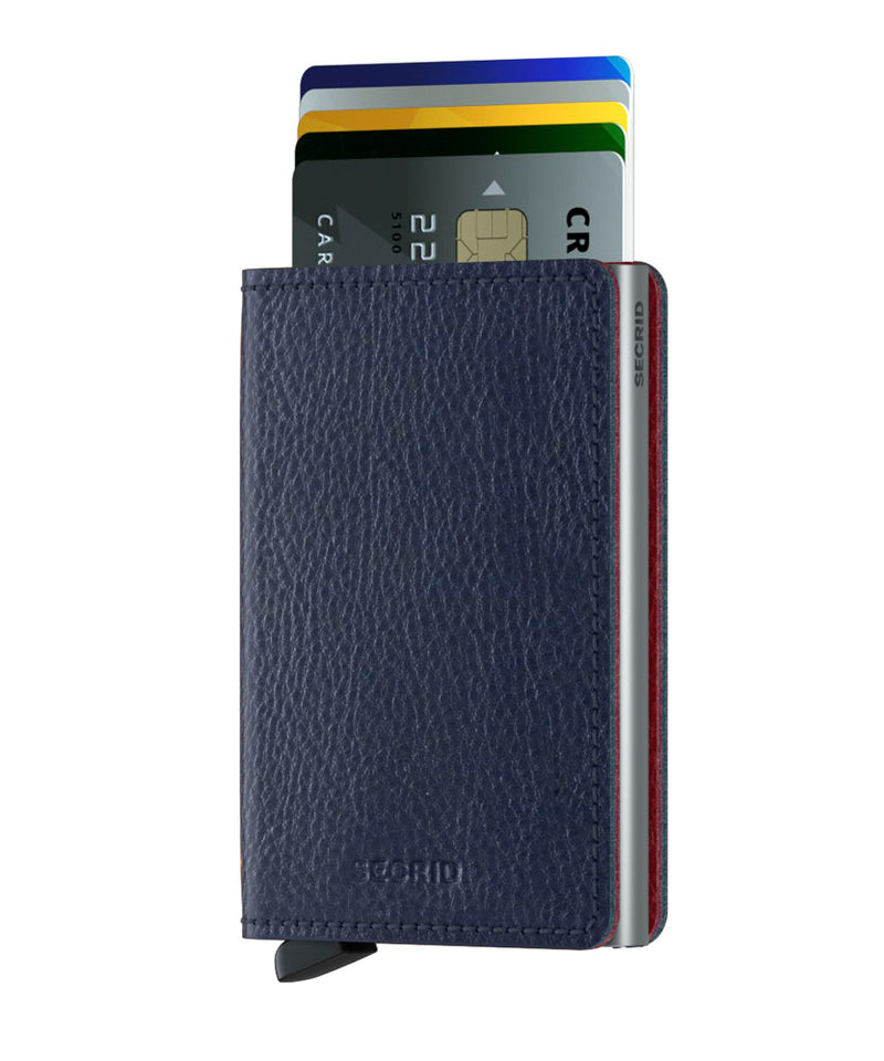 Secrid Slimwallet Veg Navy-Silver RFID Secure Slim-wallet authorized dealer Leather