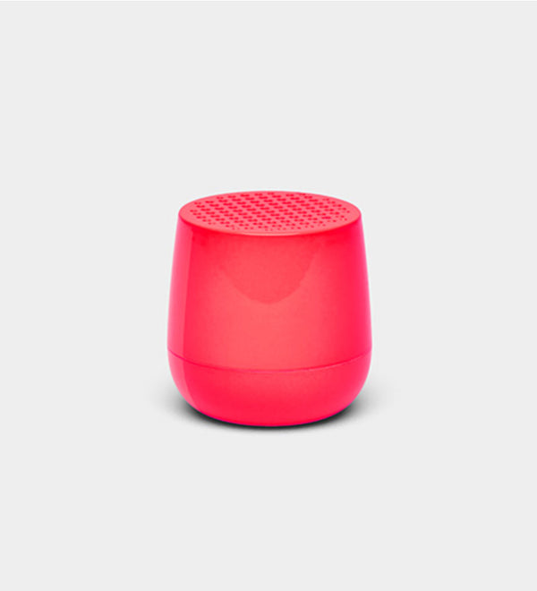 Lexon Design Mino + Wireless rechargeable Bluetooth portable Speaker Pink fluo