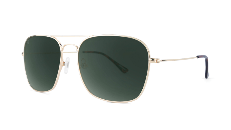 Knockaround unisex Sunglasses Mount Evans Gold/Green Polarized-Aviator style