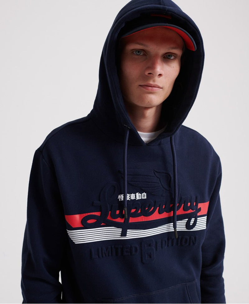 Superdry Men's Rich Navy Embossed Classic Hoodie