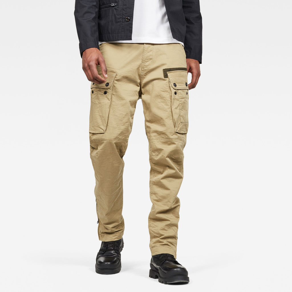 G-Star Men's straight tapered cargo pants fresh army green