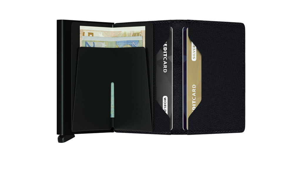 Secrid Slimwallet Crisple Black RFID Secure authorized Dealer-slim-wallet Leather