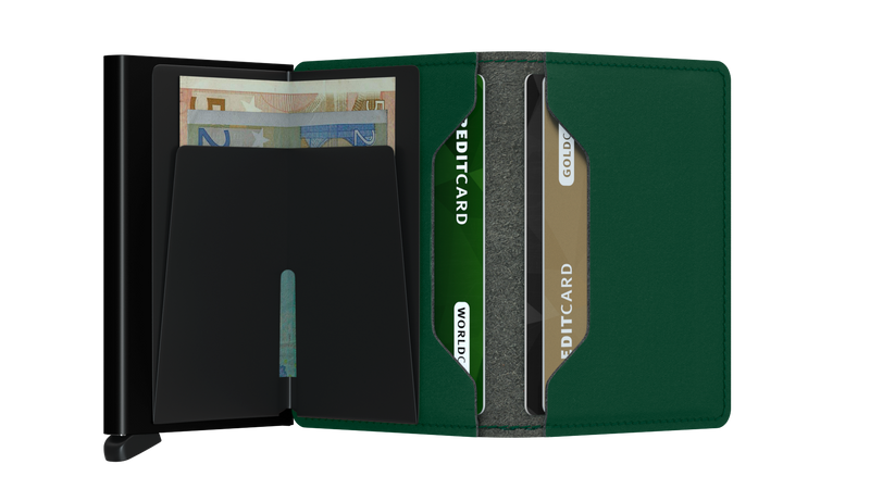 Slimwallet Yard Green-RFID Secure Authorized Dealer Slim Wallet-Vegan