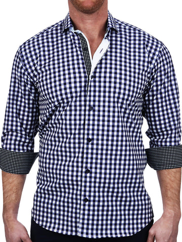 Bertigo Men's Dress shirt Flame/03 Short sleeve Fashion