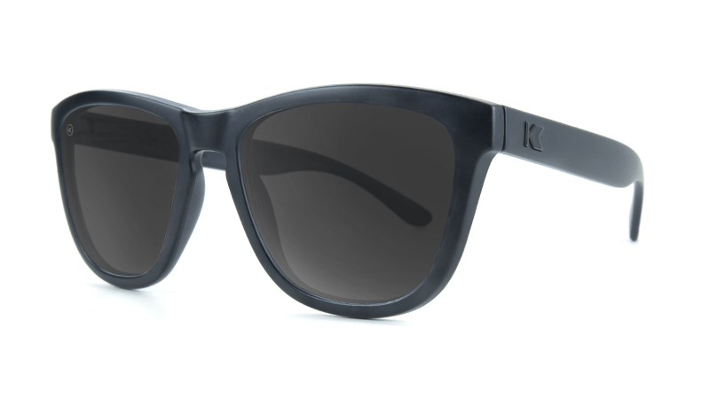 Unisex Sunglasses Premiums Matte Black on Black/Smoke Polarized