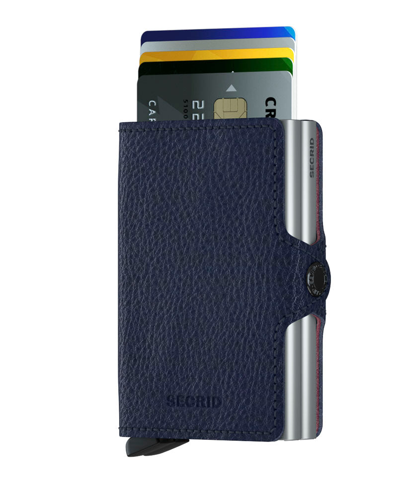 Secrid Twinwallet Veg Navy RFID Secure Twin-wallet authorized dealer Leather