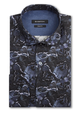 Maceoo Men's Dress Shirt Dog & Cat Grey French Cuff Fashion