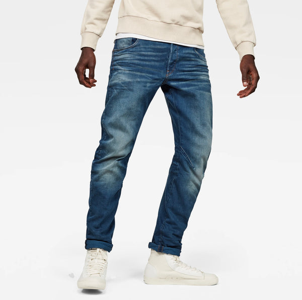 Men's ARC 3D Slim Jeans Medium Aged Denim