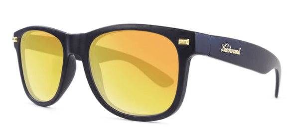 Unisex Sunglasses Fort Knocks Matte Black/Sunset Polarized Lens