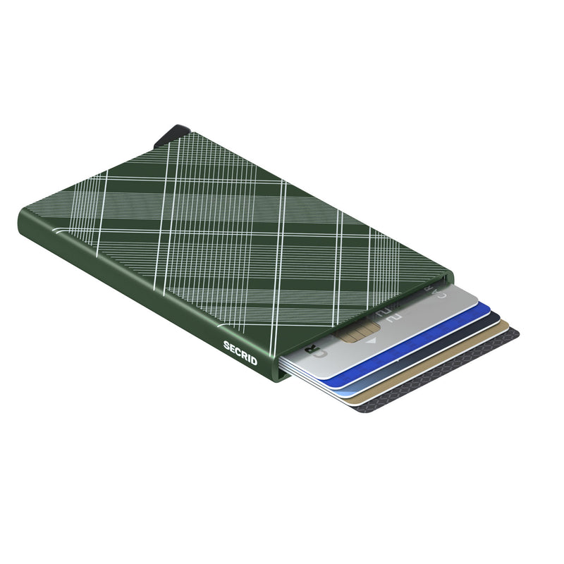Cardprotector Laser Tartan Green RFID Secure Card-protector authorized dealer