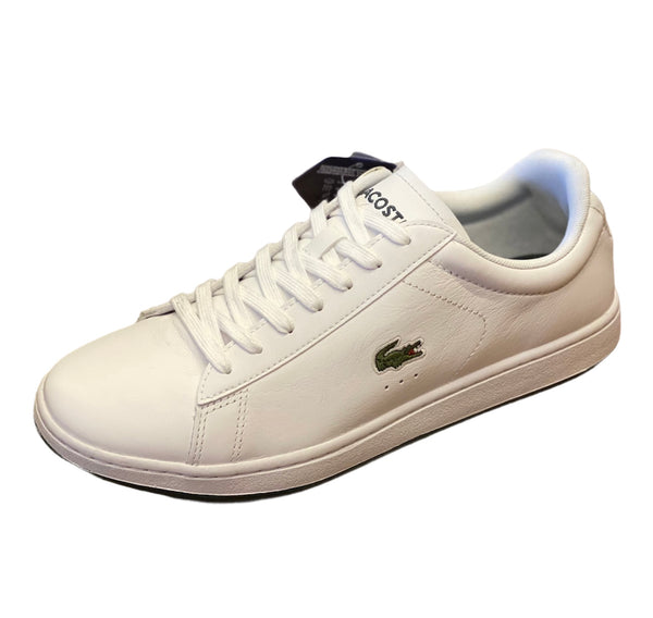 Lacoste Men's Carnaby EVO White/Dark Green Leather running shoes
