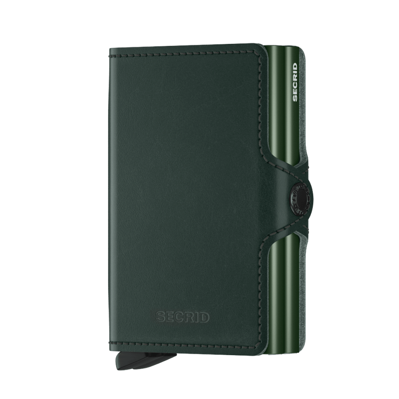 Twin Wallet-Original Green RFID Secure Authorized Dealer  Twinwallet Leather