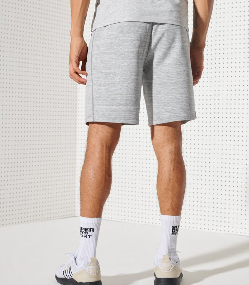 Superdry Men's Gymteck Shorts Light Grey Marl