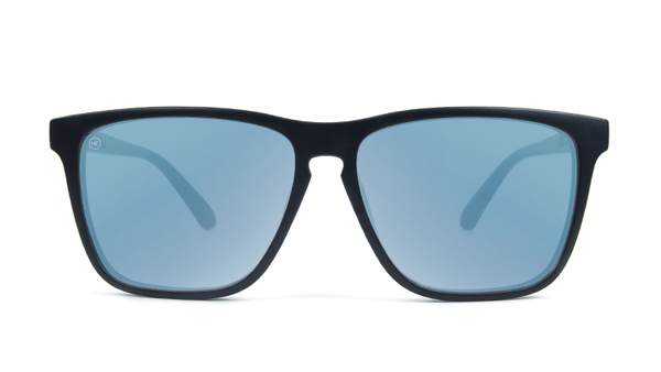 Sunglasses Fast Lanes Matte Black/Sky Blue Polarized