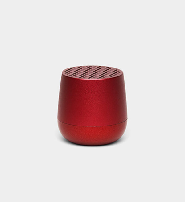 Lexon design Mino + Wireless Rechargeable Bluetooth Portable Speaker Red