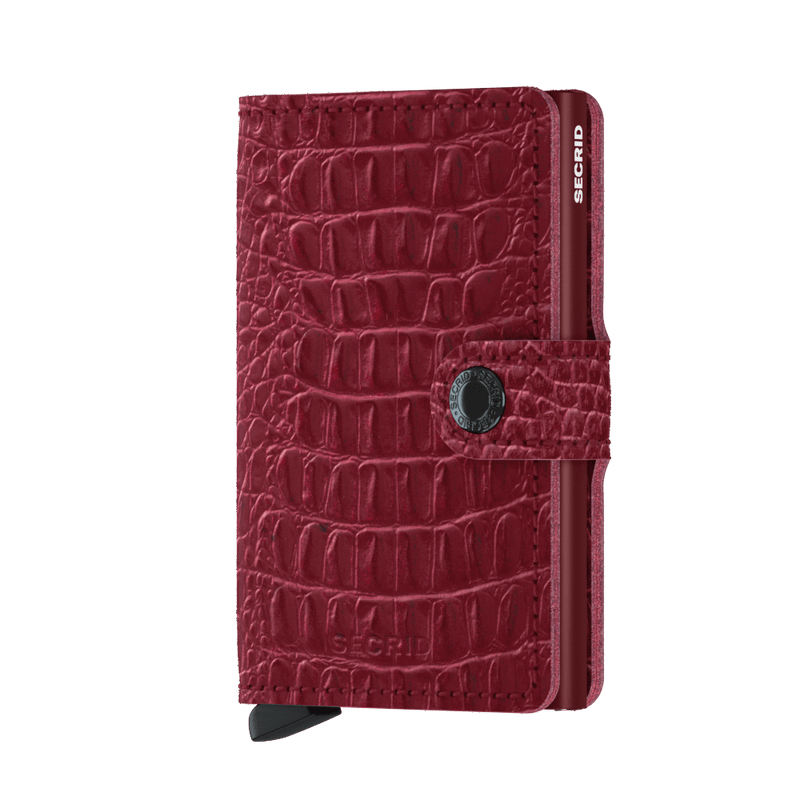 Miniwallet Nile Ruby RFID Secure Authorized Dealer Leather Mini Wallet