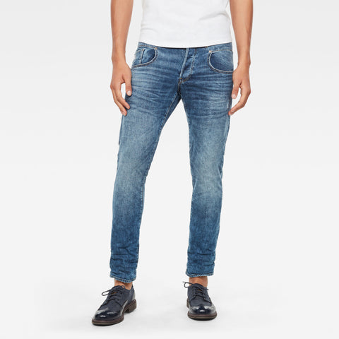 G-Star Men's Denim 3301 Slim faded mineral Jeans