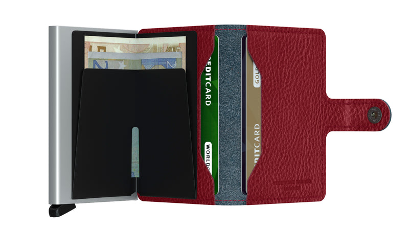 Secrid Miniwallet Veg Navy RFID Secure mini-wallet authorized dealer Leather