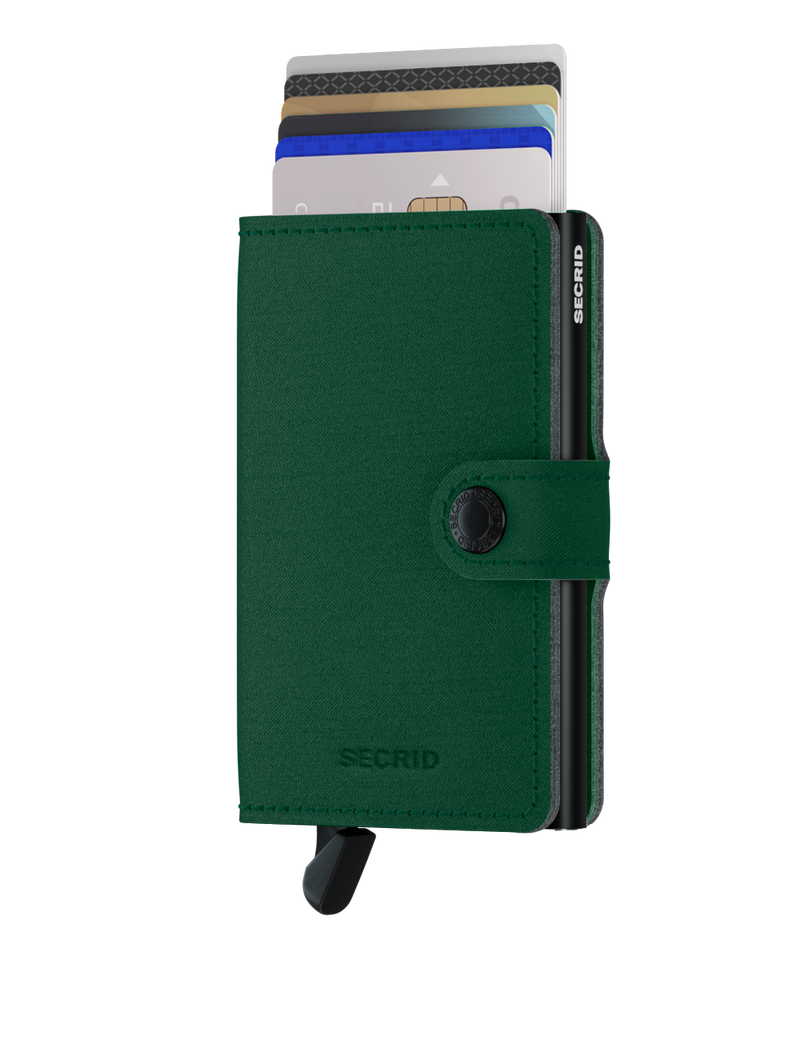 Miniwallet Yard Green-RFID Secure Authorized Dealer Mini Wallet-Vegan