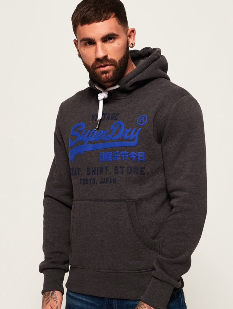 Superdry Mens Vl Shirt Shop Bonded Hood Hoodie