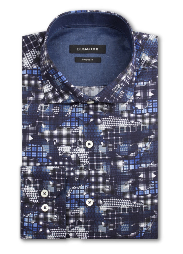 Bugatchi Men's Dress Shirt Classic Fit Fashion Shirt