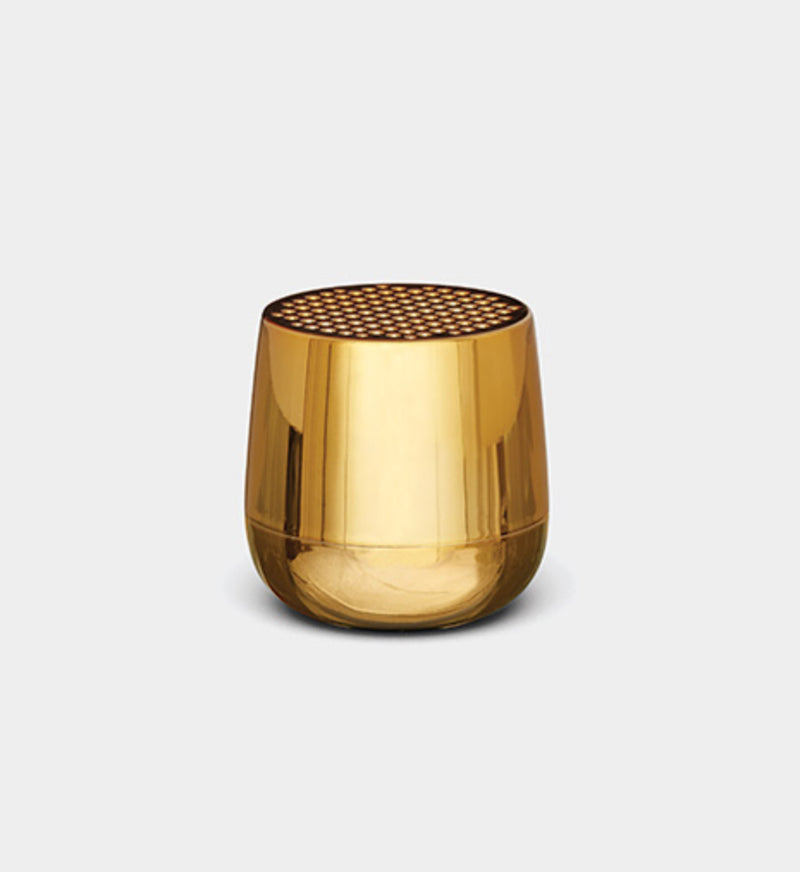 Lexon Design Mino + Wireless rechargeable Bluetooth portable Speaker metallic Gold