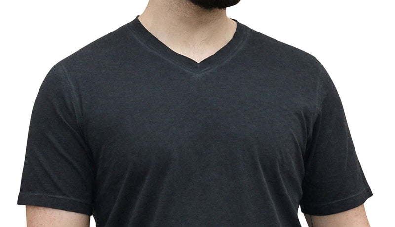 Men's V-Neck T-Shirt Charcoal