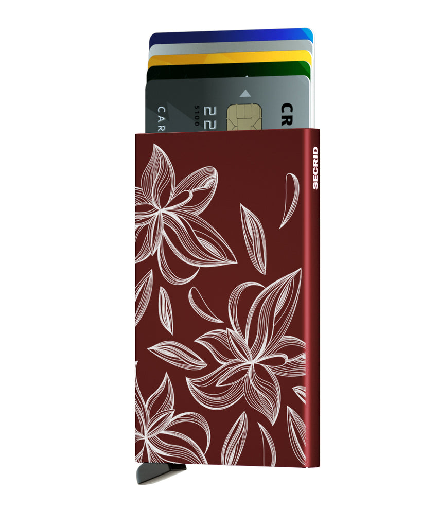 Secrid Cardprotector Laser Magnolia Bordeaux RFID Secure Card Wallet Protector Authorized Dealer