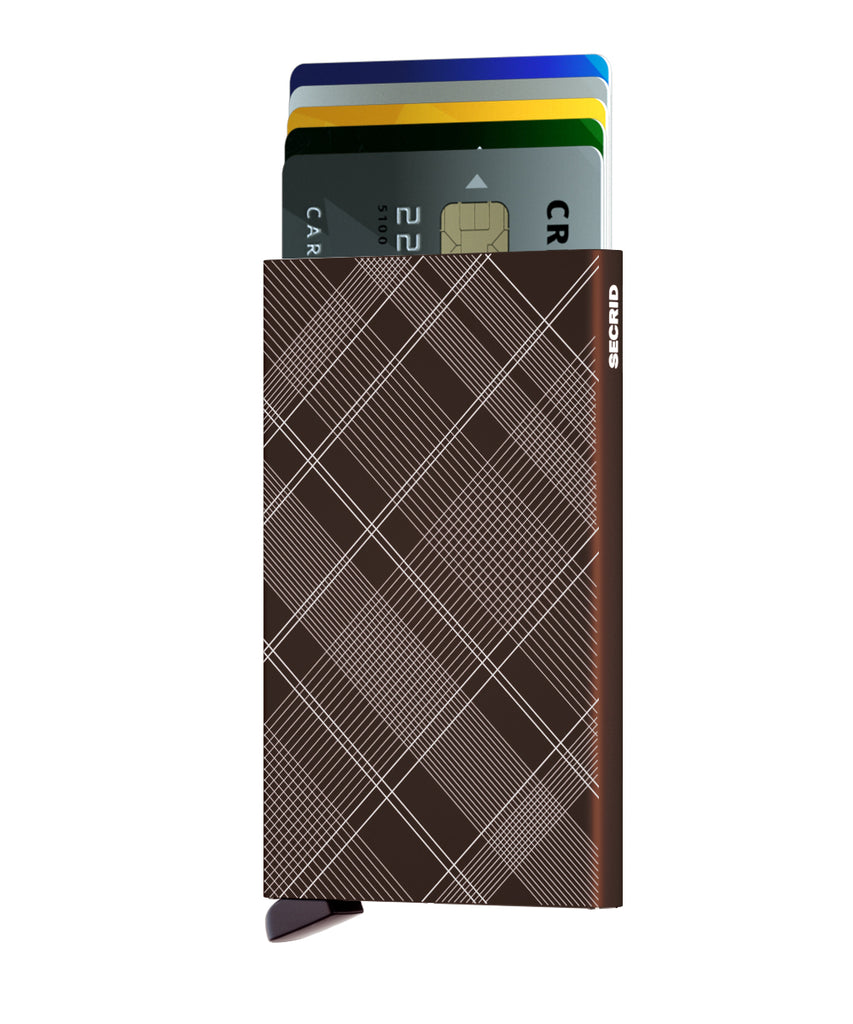 Secrid Cardprotector Laser Tartan Brown RFID Secure Card Wallet Protector Authorized Dealer