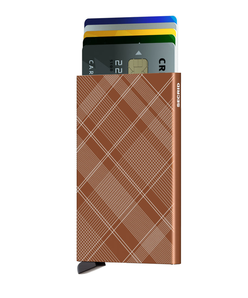 Card Protector RFID Secure Card Wallet  Laser Tartan RUST Authorized Dealer