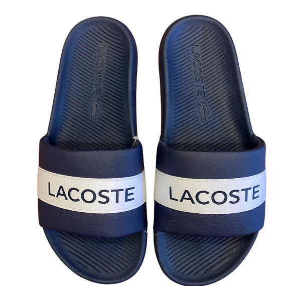 Lacoste Men's Slides Croco 2.0 Navy/White