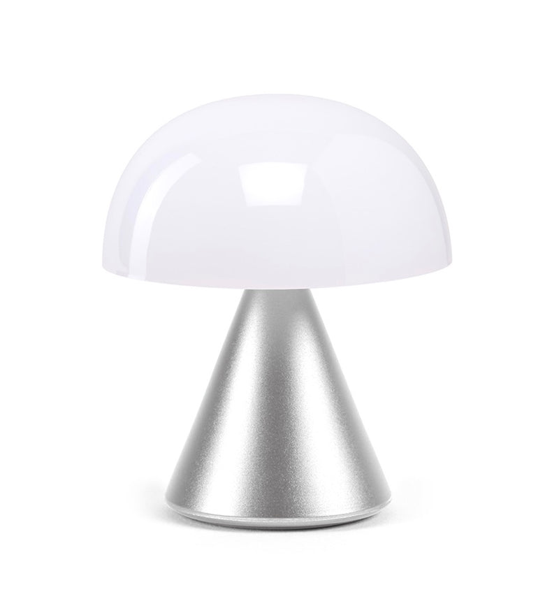 Lexon Mini LED Light Mina Silver Polished Rechargeable Lamp Cold or Warm