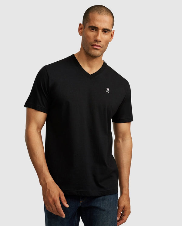 Men's Classic V Neck Tee Black
