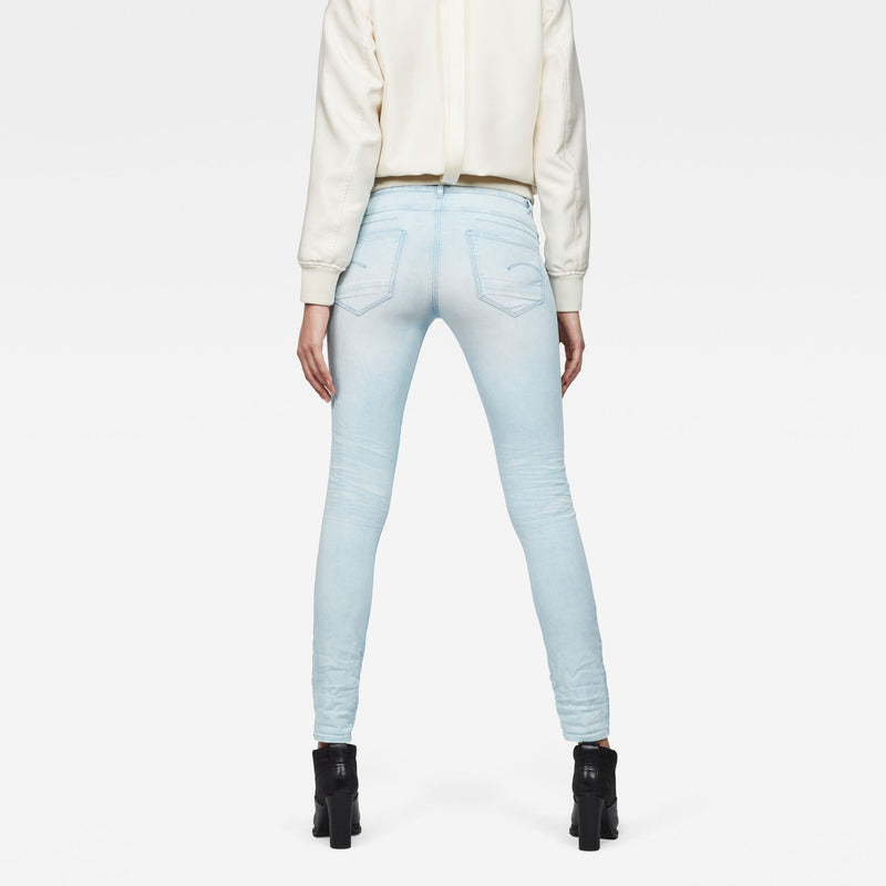 G-Star D-Staq 5-Pocket Mid Skinny Sea Color Woman's Jeans Denim