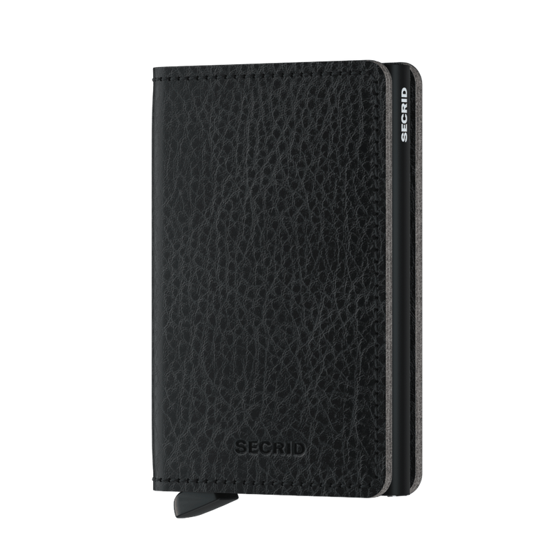 Secrid Slimwallet Veg/Black RFID Secure Authorized Dealer Leather Slim Wallet