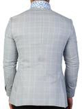 Maceoo Men's Blazer check blue fashion Italian fabrics