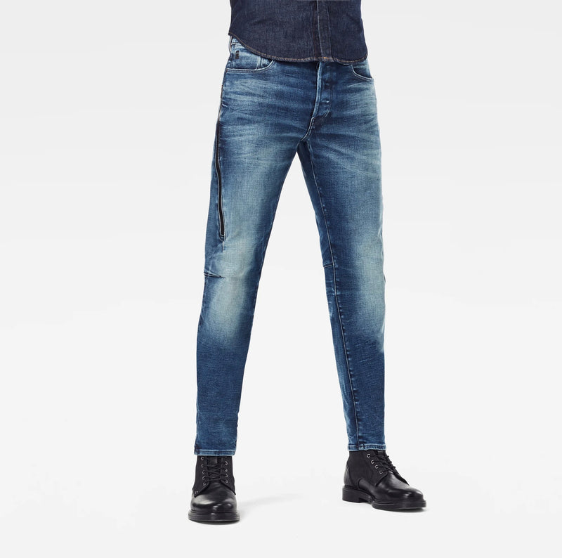 G-Star Raw Men's Denim Citishield 3D Slim Tapered Faded Clear Sky Jeans Sustainable Materials