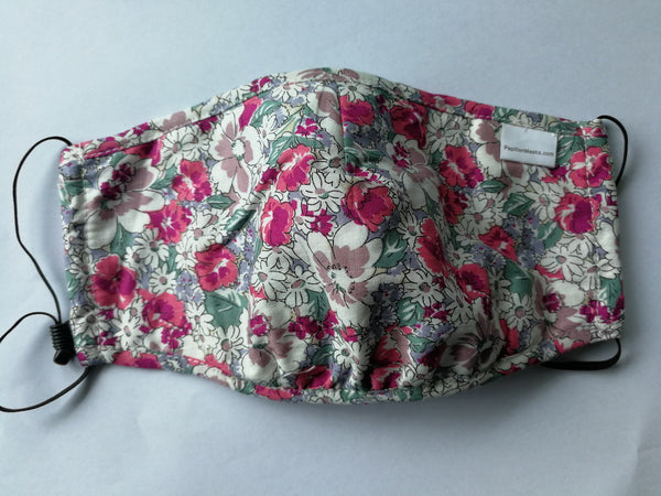 Unisex Mask 100% Cotton floral print one size fits all adjustable Masks