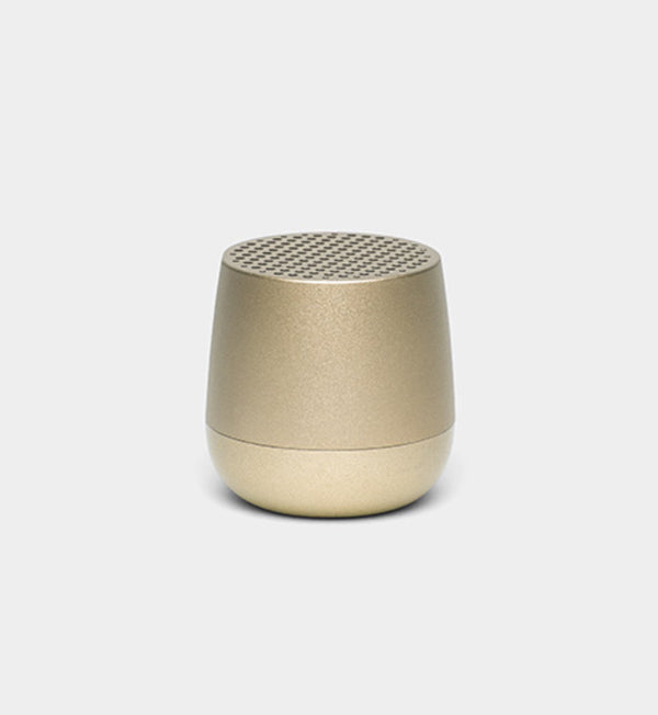 Lexon Design Mino + wireless rechargeable Bluetooth portable Speaker soft gold