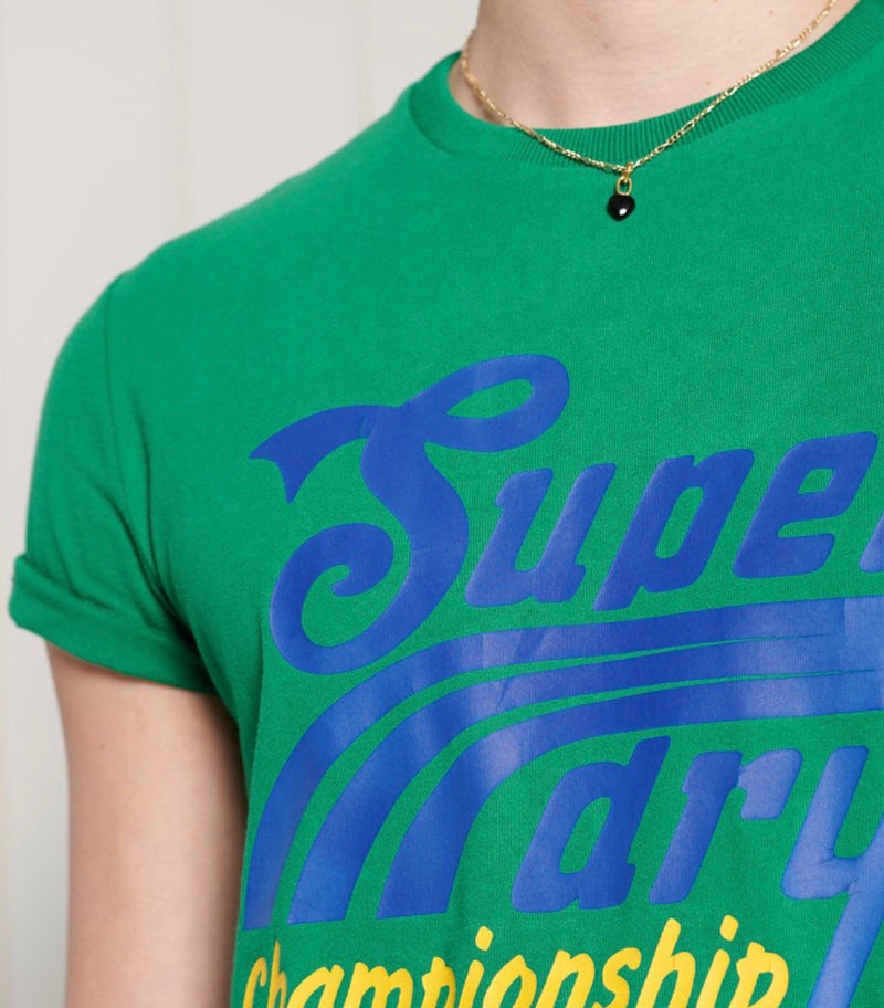 Superdry Men's Short Sleeve Collegiate Graphic T-shirt Drop Kick Green