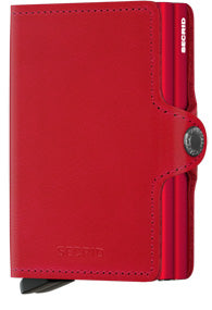 Twinwallet Original Red-Red Wallet RFID Secure-Authorized Dealer Genuine Leather