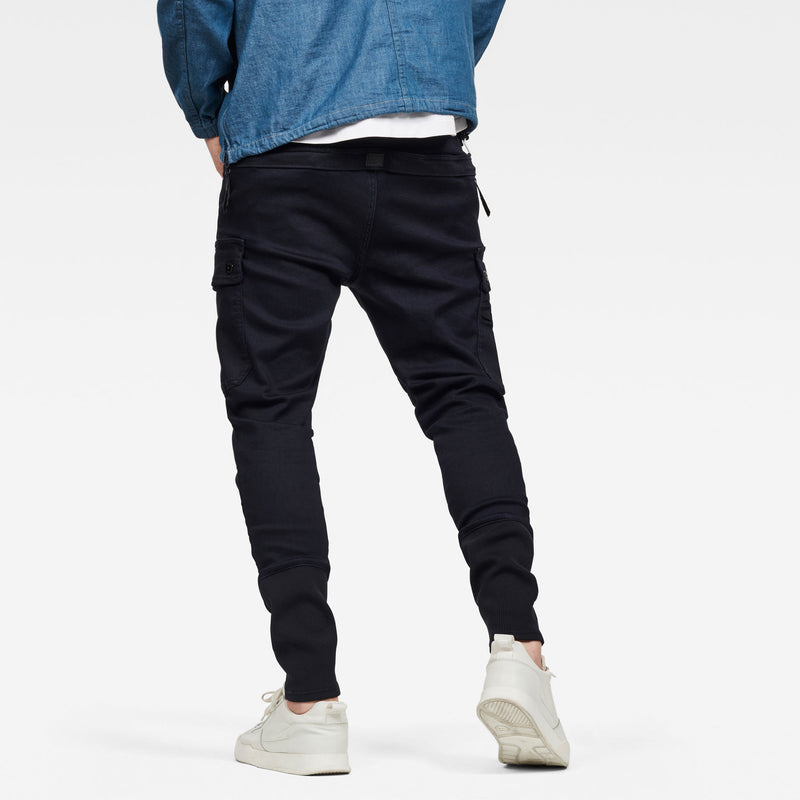 Men's slim tapered slander blue cargo superstretch made with sustainable materials