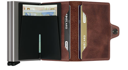 Secrid Twin Wallet - Vintage Brown Twinwallet RFID Secure-Authorized Dealer Leather