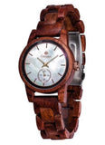 Tense Hand-Made Small Hamptons Ladies Wood Watch Rosewood
