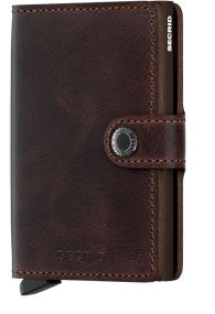 Secrid Miniwallet Vintage Chocolate RFID Secure Wallet-Authorized Dealer mini-wallet Leather